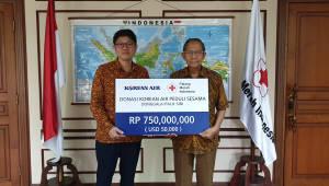 대한항공, 인도네시아 지진피해 구호 성금 5만달러 전달