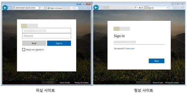 사용자 계정 정보 노린 '피싱 사이트' 기승