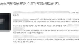 기업형 e스포츠 전용 불법 도박 사이트 확산