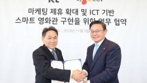 "KT-CJ CGV ""최첨단 미래형 영화관 구현"""