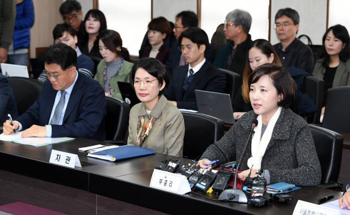 유은혜 사회부총리 겸 교육부 장관(맨 오른쪽)