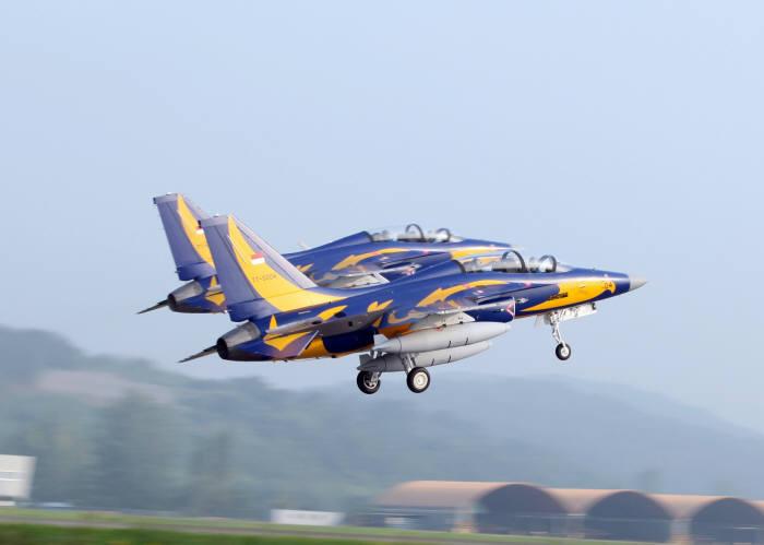 한국항공우주산업(KAI)이 인도네시아에 공급하는 T-50i (제공=KAI)