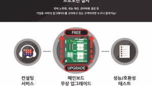 넷아스기술, 기업용 서버 메인보드 교환 프로모션 실시