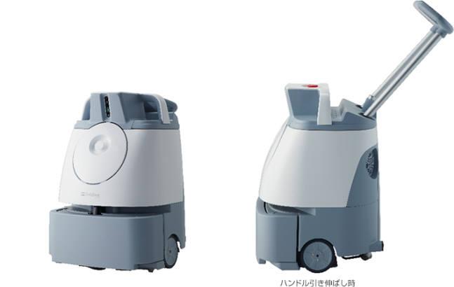 소프트뱅크 그룹의 인공지능(AI)을 활용한 신형 업무용 청소로봇 위즈