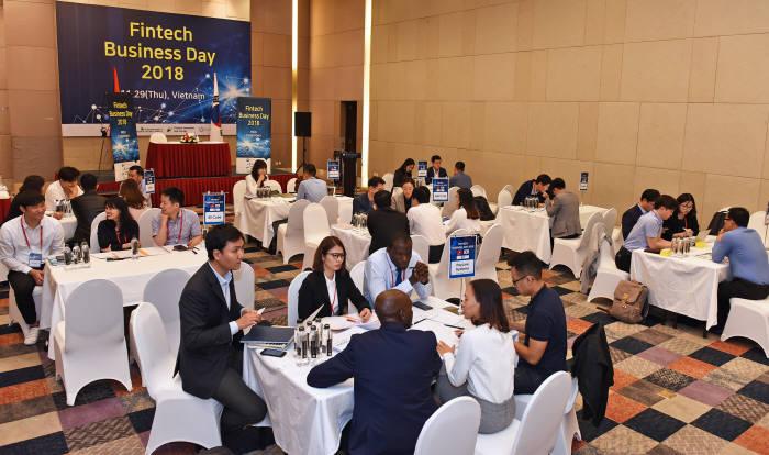 한국인터넷진흥원이 베트남 하노이에서 개최한 핀테크 글로벌 비즈니스 상담회 전경