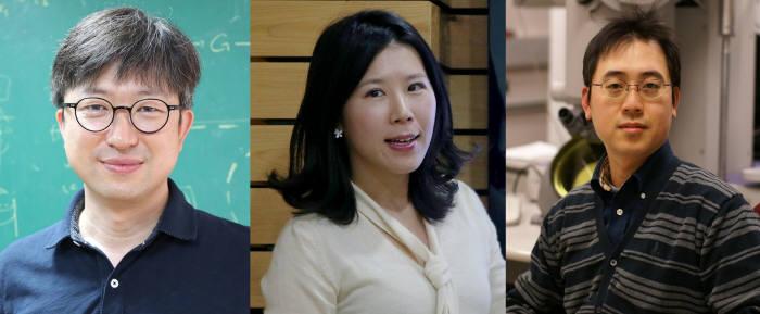 왼쪽부터)엄상일, 차미영, 김호민 교수