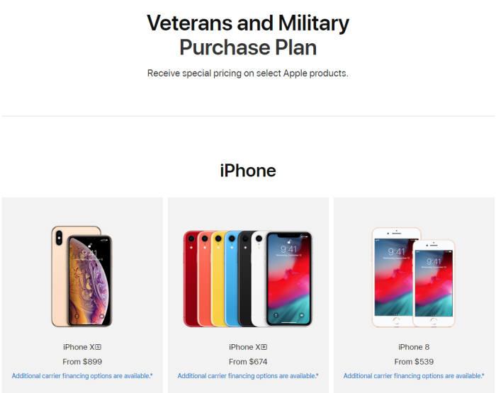 애플은 5일 미국 공식 홈페이지 내에 군(軍) 전용 온라인 스토어를 개설했다.