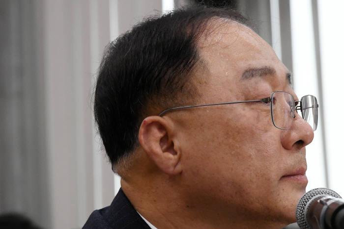 홍남기 경제부총리 겸 기획재정부 장관 후보자.