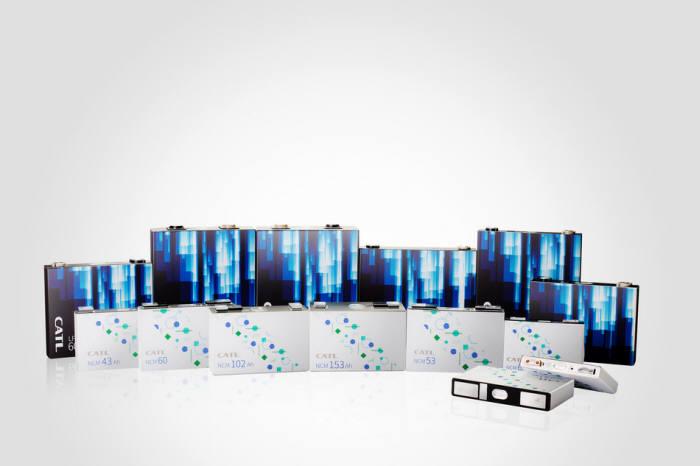 중국 최대 배터리 제조사인 CATL 전기차 배터리 제품군. (사진=CATL)