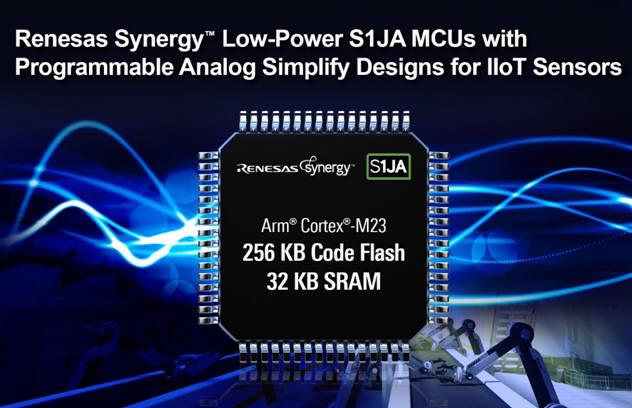 르네사스, 아날로그 기능 강화 산업 IoT센서용 저전력마이크로프로세서 S1JA 양산