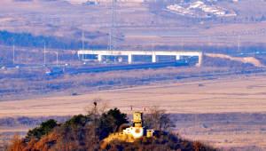 남북 동서해선 철도·도로 연결 및 현대화 사업 착공식 도라산역 출발, 개성 판문역 도착