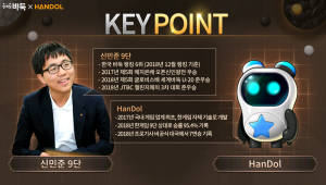 NHN엔터 바둑AI '한돌', 신민준 프로기사와 대국