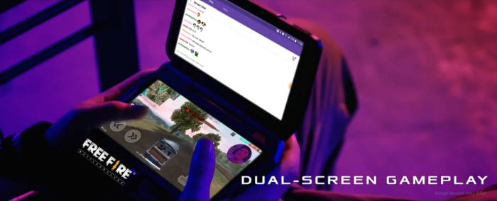 ROG폰 트윈 뷰 독(확장 디스플레이)은 스마트폰 화면을 투 모니터처럼 사용하도록 돕는다. 외장배터리와 쿨러 일체형 제품이다. [사진=에이수스]
