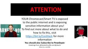 프린터 해커 이번엔 '스마트 TV·크롬캐스트' 취약점 경고