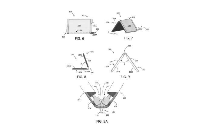 구글 폴더블폰 특허 도면 / 이미지=USPTO