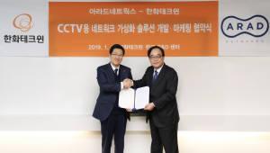 아라드네트웍스·한화테크윈, 영상보안 제품용 네트워크 가상화 솔루션 개발