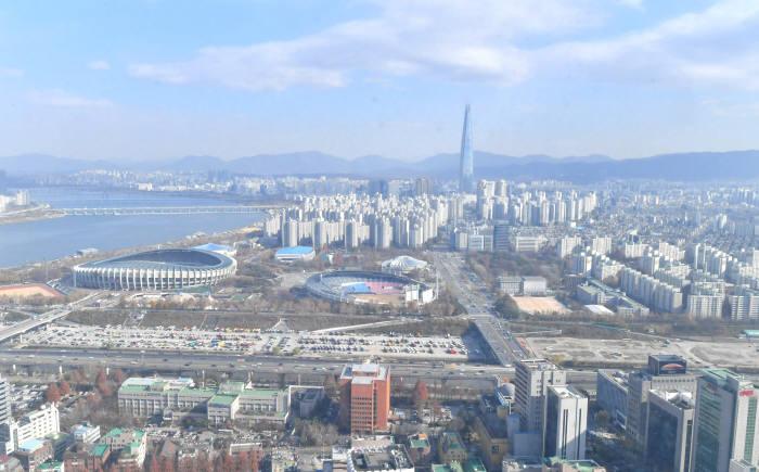 미세먼지 없는 서울 하늘