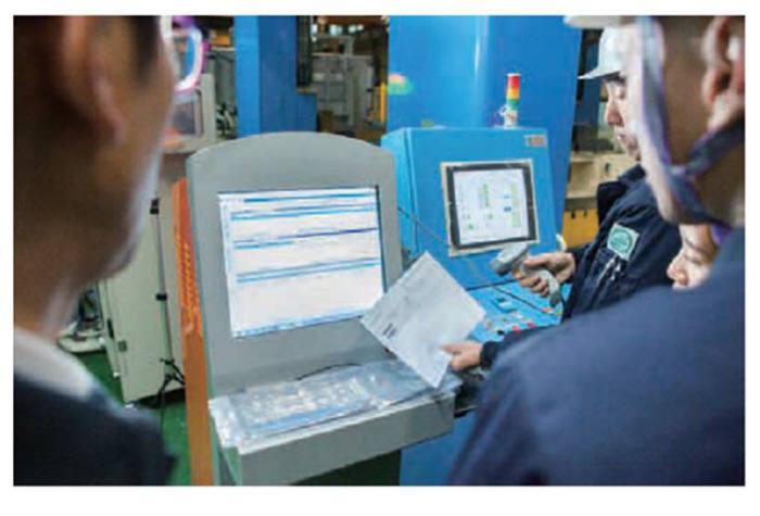 지에스티가 제조업체에 구축한 클라우드형 스마트팩토리 운용 이미지.