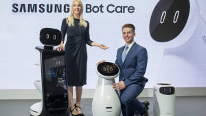 [CES 2019]삼성전자, 로봇사업 진출...'삼성봇' '입는 보행보조 로봇' 공개