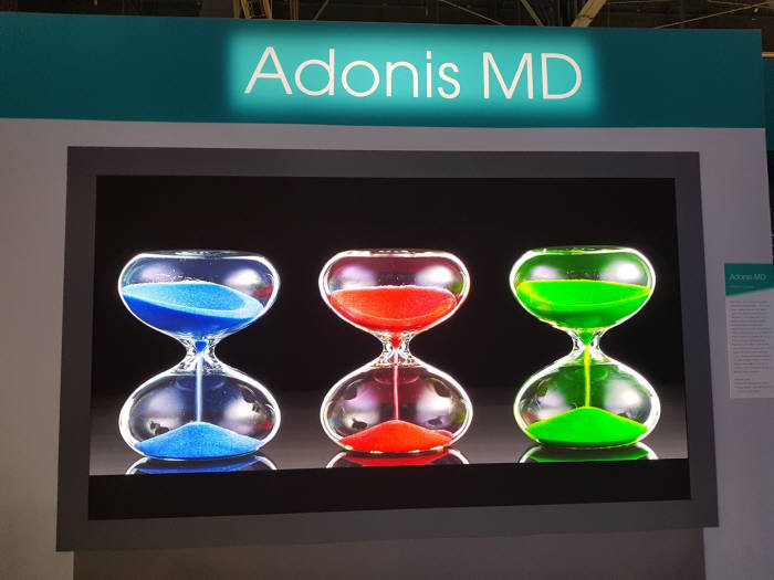 하이센스가 CES 2019에서 공개한 모듈러 방식 마이크로LED 아도니스MD (사진=전자신문DB)