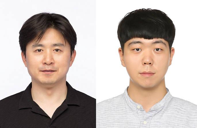 김원종 포스텍 화학과 교수(왼쪽)와 통합과정 임수석 씨.