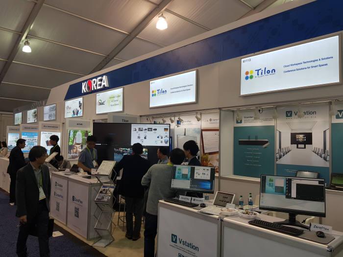 틸론은 CES 2019 참가해 미국, 일본, 중국, 브라질, 멕시코 등 9개국 20여개 업체와 수출 상담을 진행했다. 특히, 실시간 협업 회의 솔루션 `브이스테이션이 주목을 받았다.