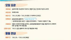 금감원, 2019년도 '금융소비자리포터' 모집