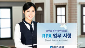 광주은행, 로보틱 프로세스 자동화 도입…디지털 사무자동화 시행
