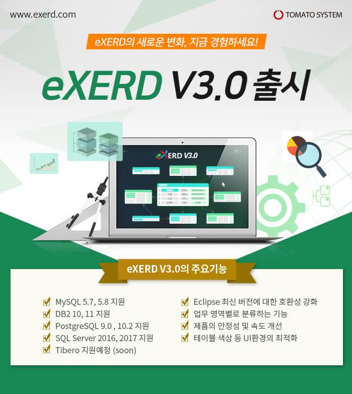 토마토시스템, DB모델링툴 'eXERD' V3.0 론칭…업그레이드 할인