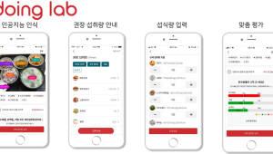 두잉랩, AI 식단 사진으로 다이어트 성공 지원