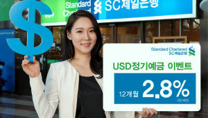 SC제일銀, '미국 달러 외화예금' 개인고객 대상 특별금리 이벤트
