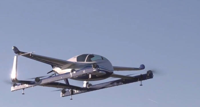 우버가 자회사 오로라 플라이트 사이언시스를 통해 개발한 비행체 모습