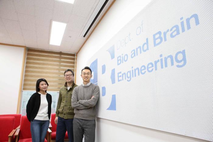 강화학습 난제 해결 아이디어를 담은 연구에 참여한 KAIST 연구진. 왼쪽부터 안수진 박사과정, 이지항 박사, 이상완 교수