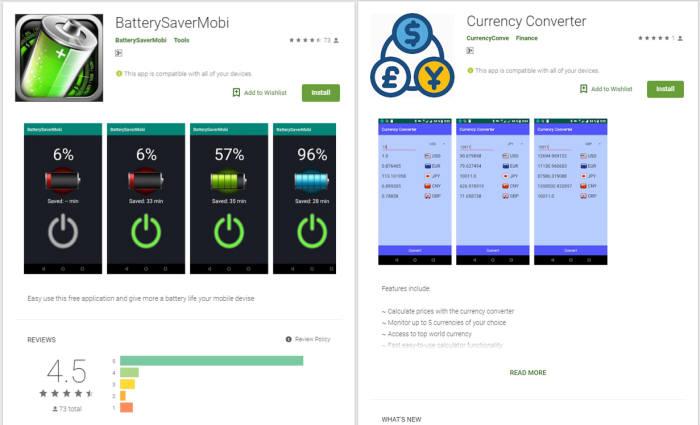 트렌드마이크로가 최근 발견한 악성 앱 2종. 스마트폰 모션 센서 데이터 생성여부로 샌드박스 탐지를 회피한다.