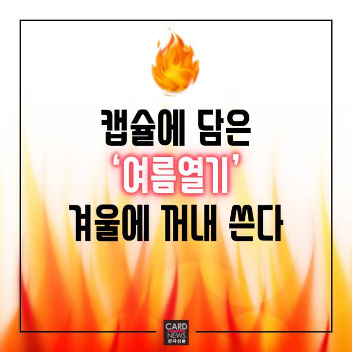 [카드뉴스]캡슐에 담은 '여름열기' 겨울에 꺼내 쓴다