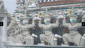 [국제]방콕 초미세먼지 경고 '마스큰 쓴 사원 조각상' 사진에 '시끌'