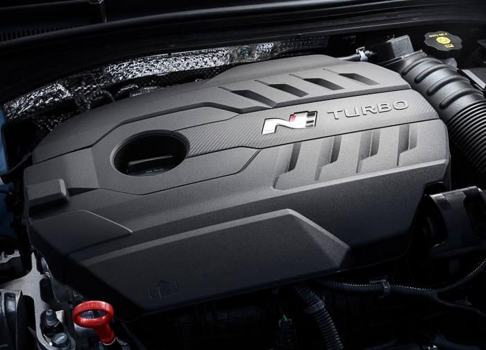 현대자동차 고성능 N 모델 엔진.