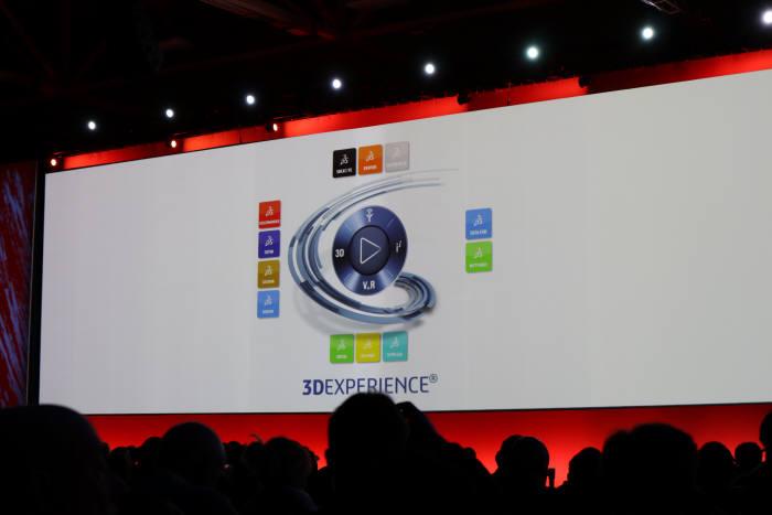 다쏘시스템 3D익스피리언스 SW를 한눈에 확인할 수 있는 슬라이드. 박종진기자 truth@