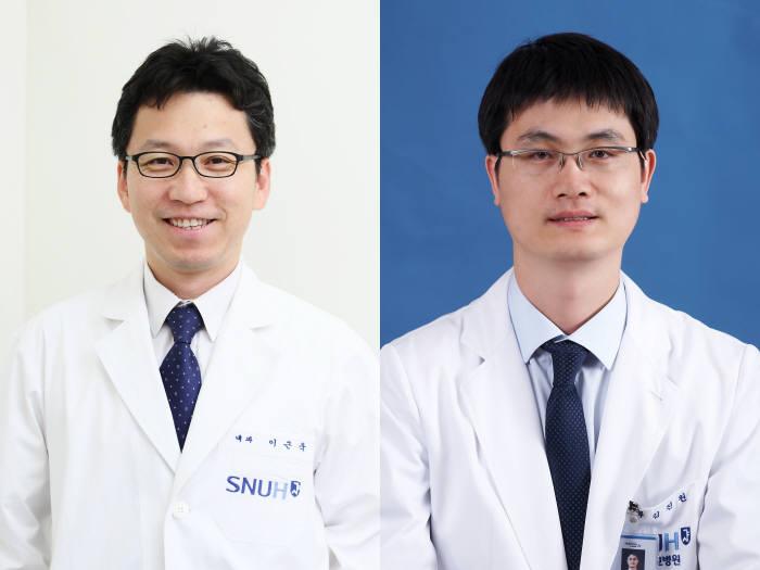 분당서울대병원 혈액종양내과 이근욱(좌), 김진원(우) 교수.