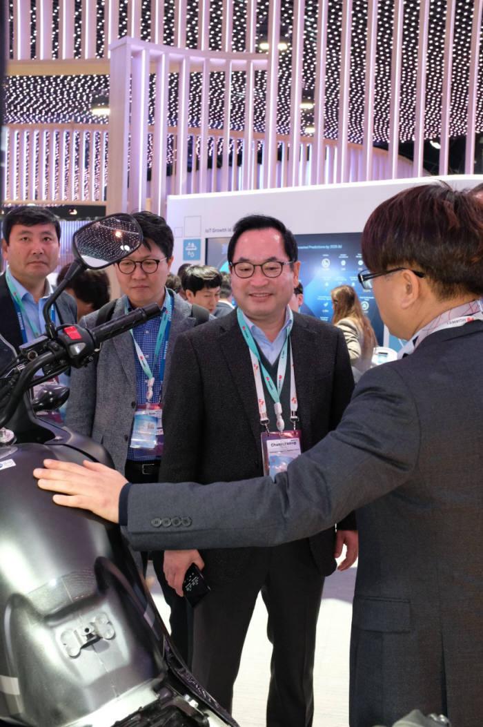 """[MWC19 바르셀로나]김창용 NIPA 원장 """"5G 융합콘텐츠로 글로벌 시장 선도"""""""