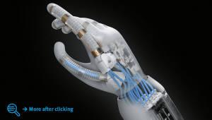 공기압과 AI 결합한 손 모양 로봇 개발