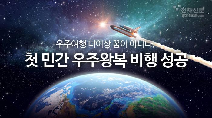 [모션그래픽]우주여행 더이상 꿈이 아니다, 첫 민간 우주왕복 비행 성공