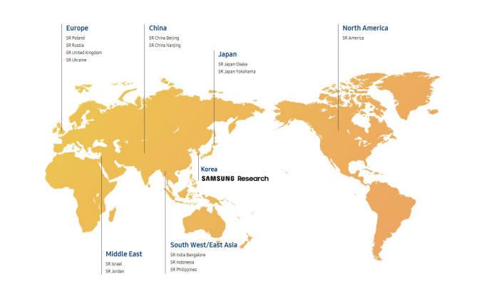 삼성전자는 세트부문 선행연구조직 삼성리서치 글로벌 R&D 센터를 15개국 22개 센터에서 12개국 14개 센터로 재편했다.