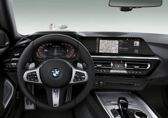 BMW 뉴 Z4 실내.