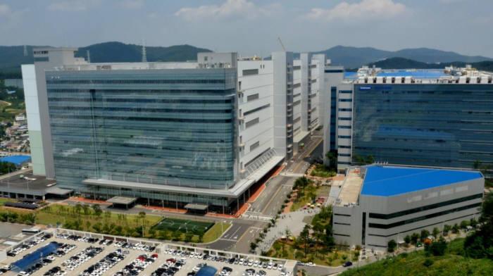충남 아산에 위치한 삼성디스플레이 OLED 공장 전경