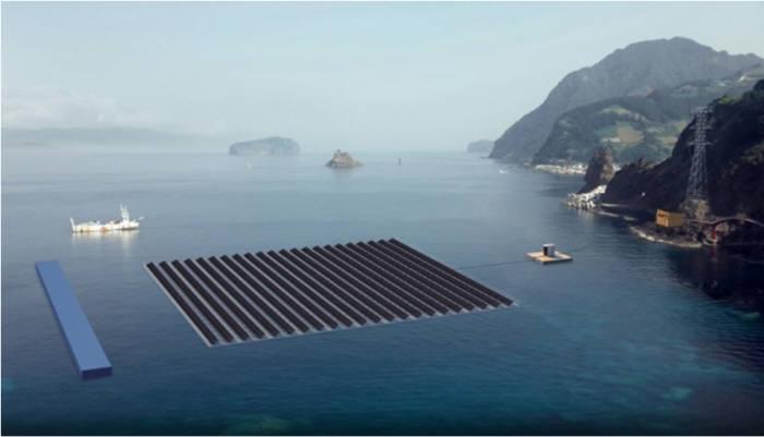 국내 해상 태양광 구축 예상 이미지.