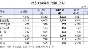 작년 신용정보회사 순이익 900억원…전년比 29.2%↑