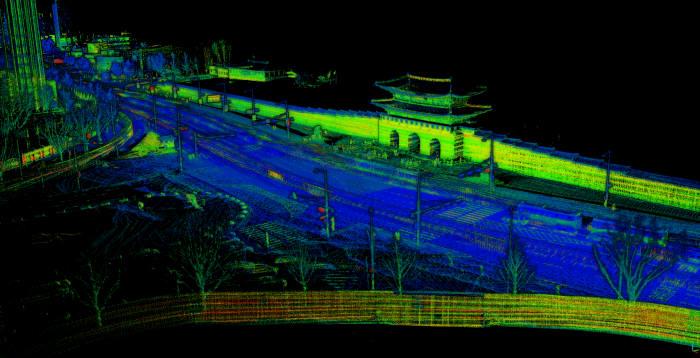 모빌테크가 XL-레플리카로 3D 스캐닝 기술로 구축한 서울 광화문 데이터 (제공=모빌테크)