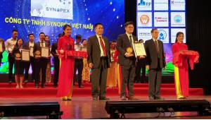 시노펙스, 베트남 고품질 브랜드 기업 TOP20 수상