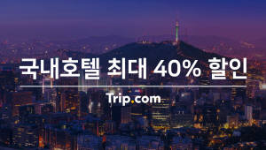 """트립닷컴, 국내 호텔 할인 프로모션 실시...""""벚꽃 구경 가요"""""""